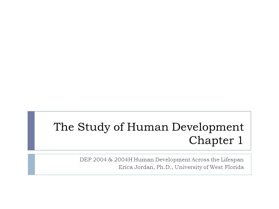 The Study of Human Development Chapter 1
