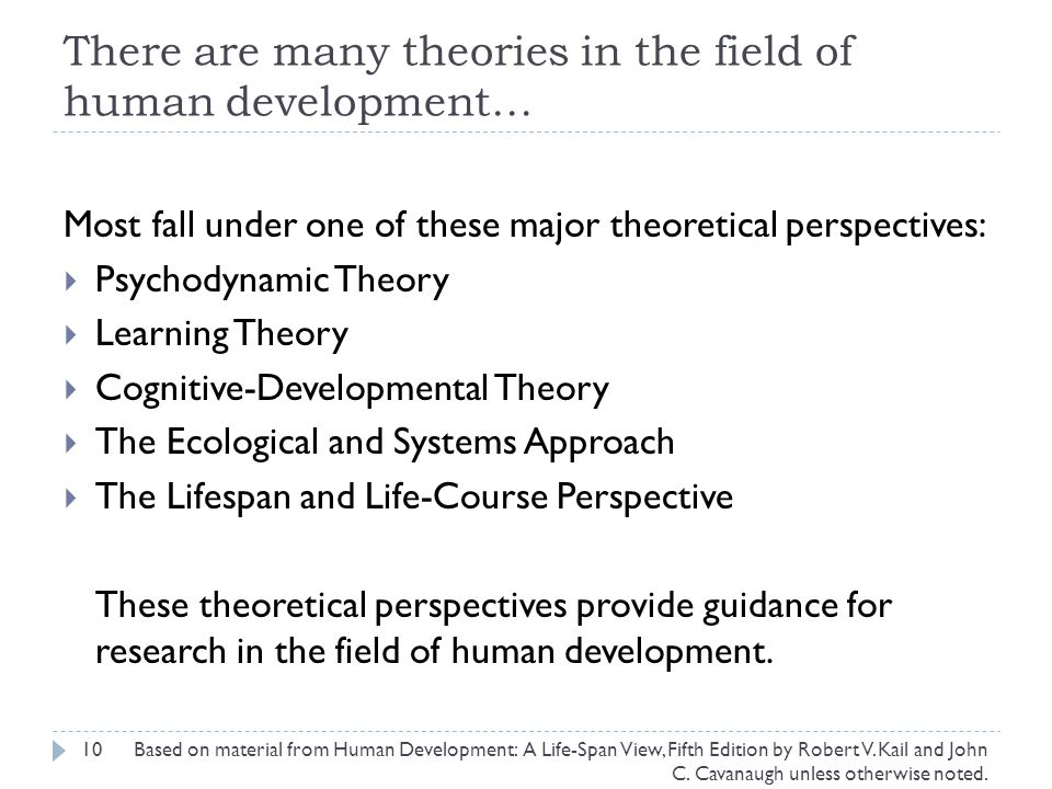There are many theories in the field of human development…