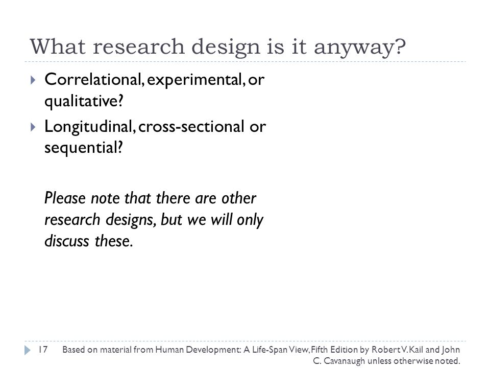 What research design is it anyway