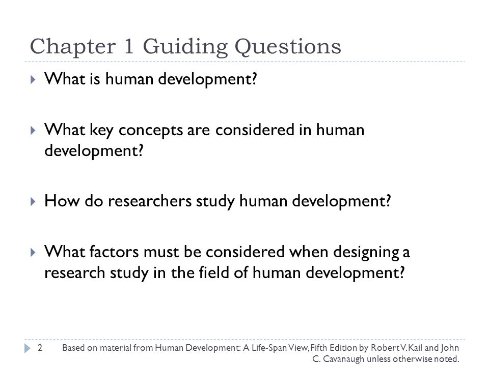 Chapter 1 Guiding Questions
