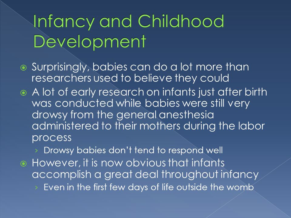 Infancy and Childhood Development
