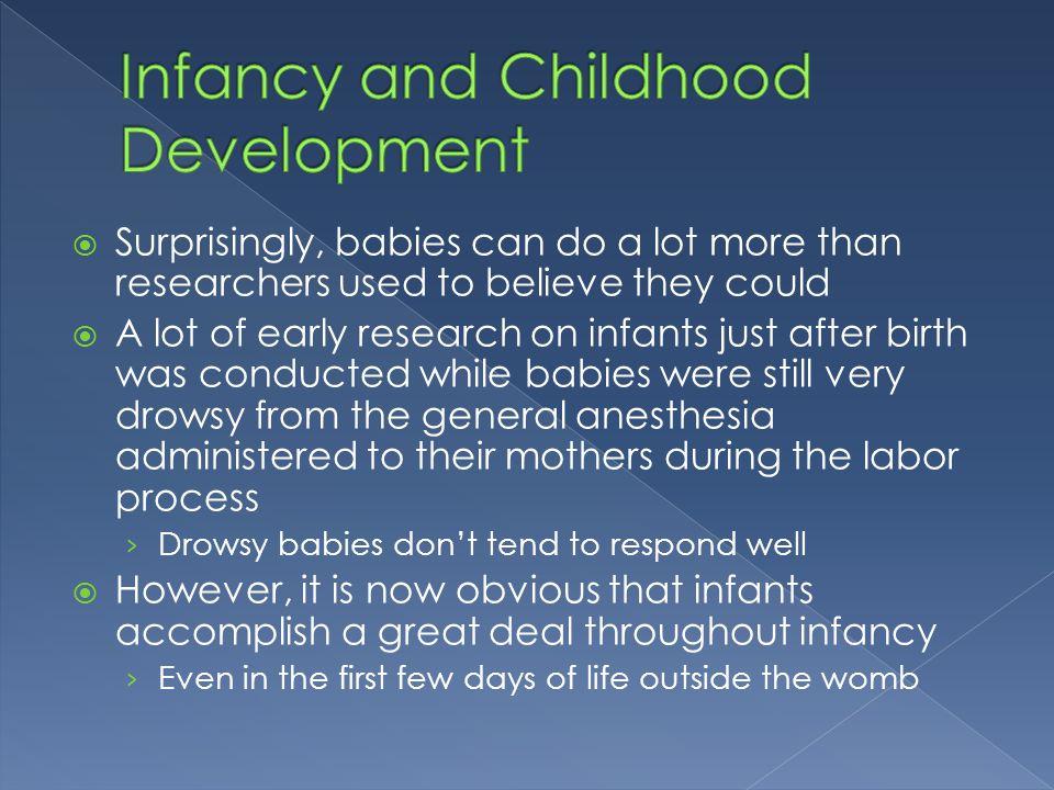 Infancy and Childhood Development