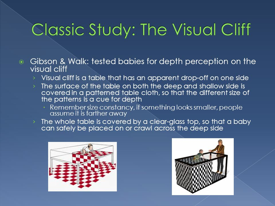 Classic Study: The Visual Cliff