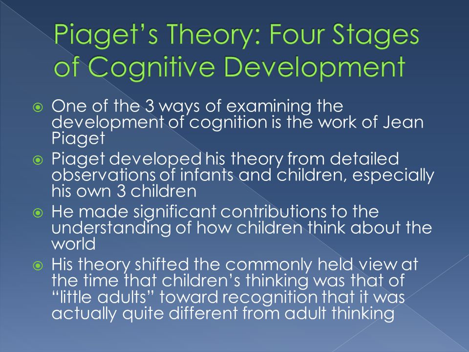 Piaget's Theory: Four Stages of Cognitive Development