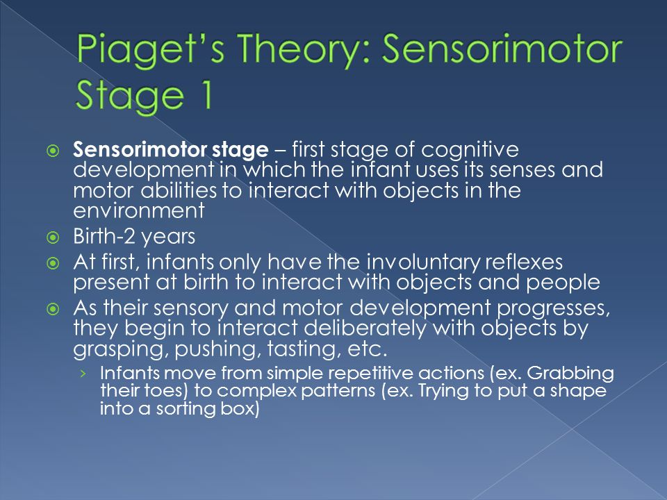 Piaget's Theory: Sensorimotor Stage 1