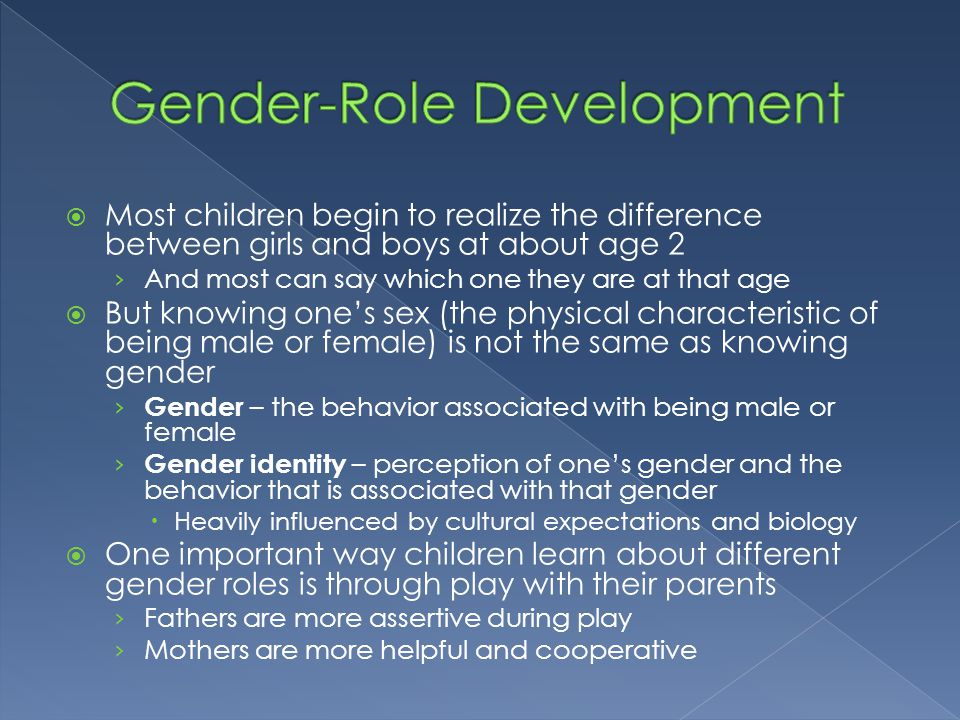 Gender-Role Development