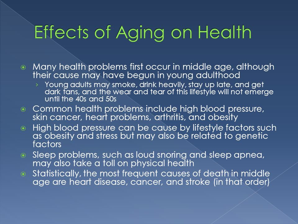 Effects of Aging on Health