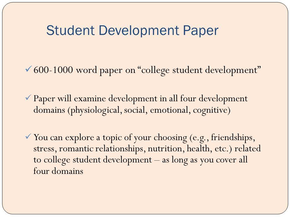 Student Development Paper