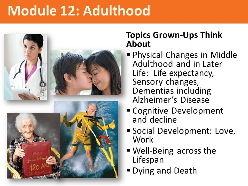 Module 12: Adulthood Topics Grown-Ups Think About