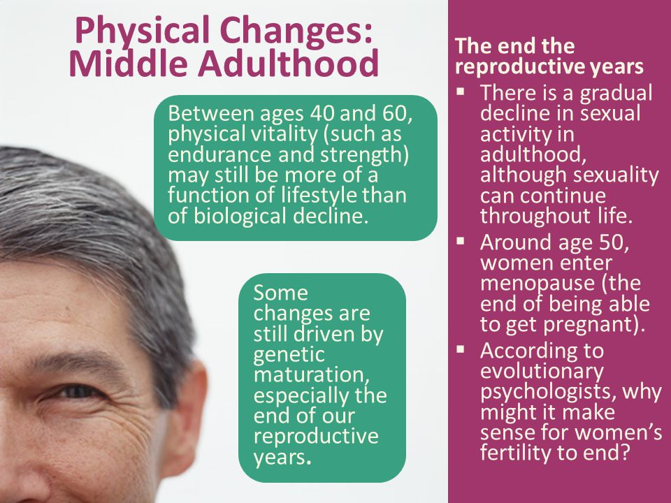 Physical Changes: Middle Adulthood