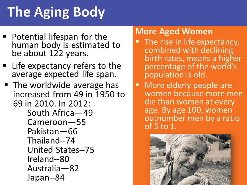 The Aging Body More Aged Women