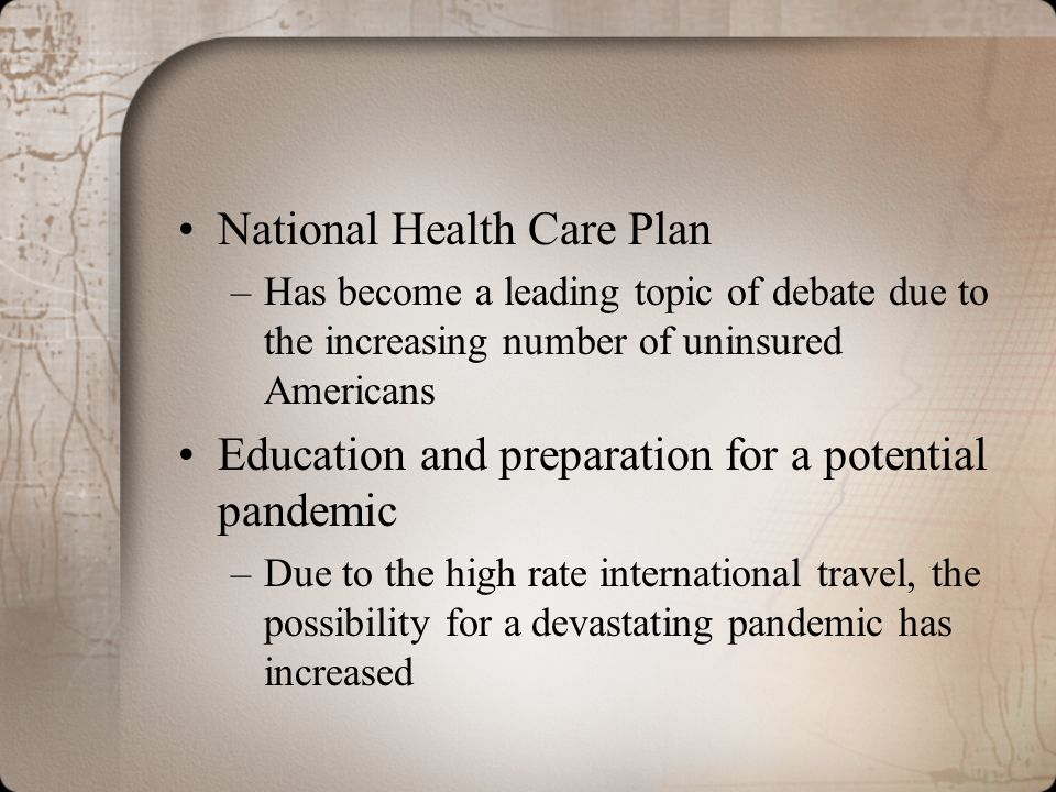 National Health Care Plan