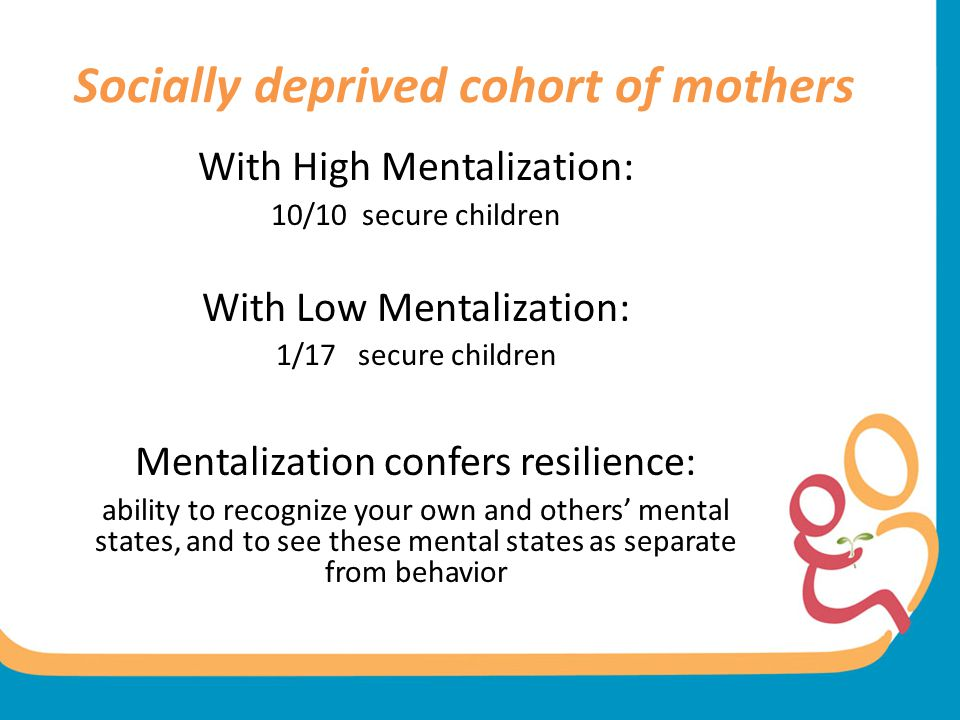 Socially deprived cohort of mothers