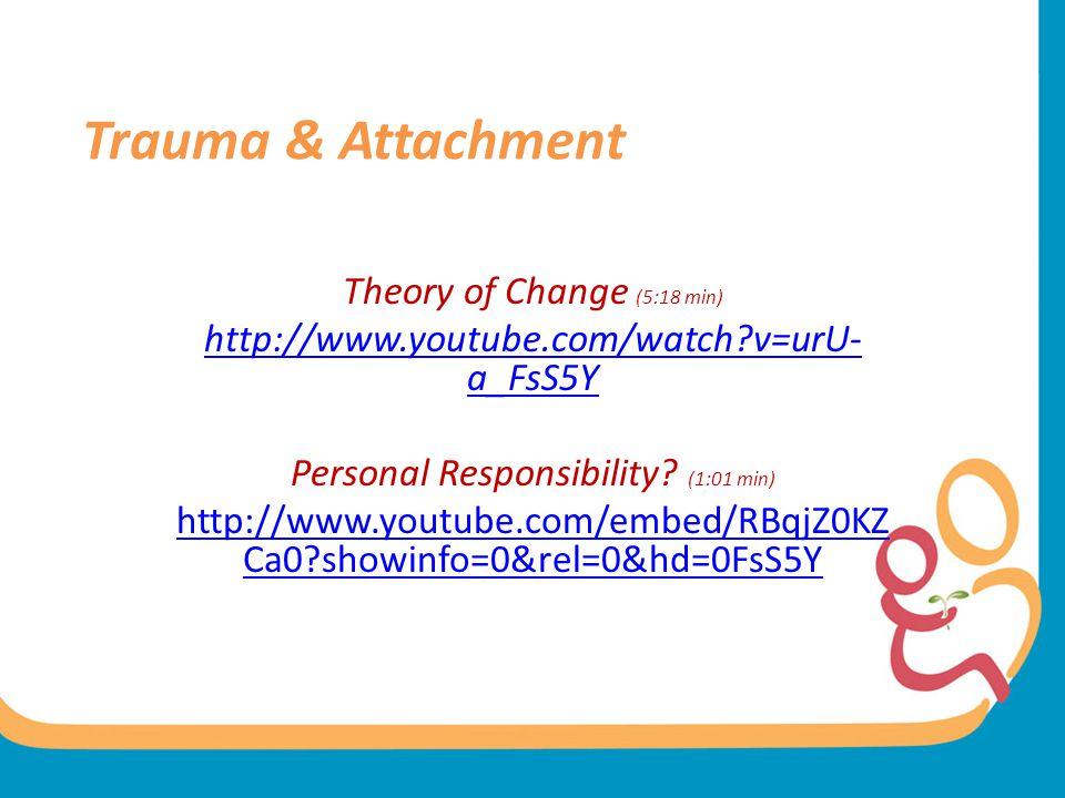 Trauma & Attachment Theory of Change (5:18 min)