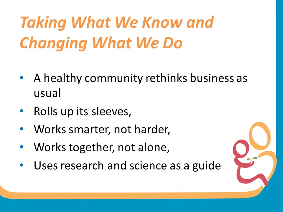 Taking What We Know and Changing What We Do
