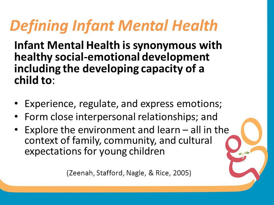 Defining Infant Mental Health