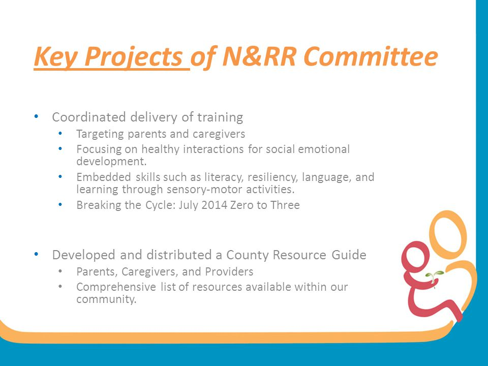 Key Projects of N&RR Committee
