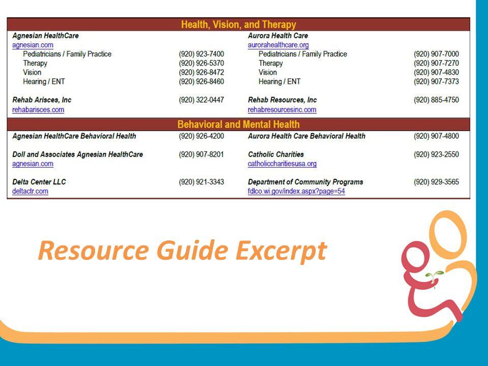Resource Guide Excerpt