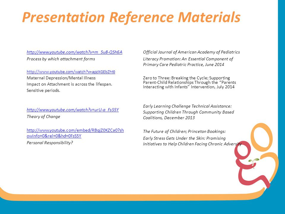 Presentation Reference Materials