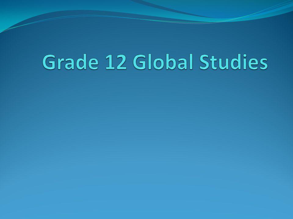 Grade 12 Global Studies