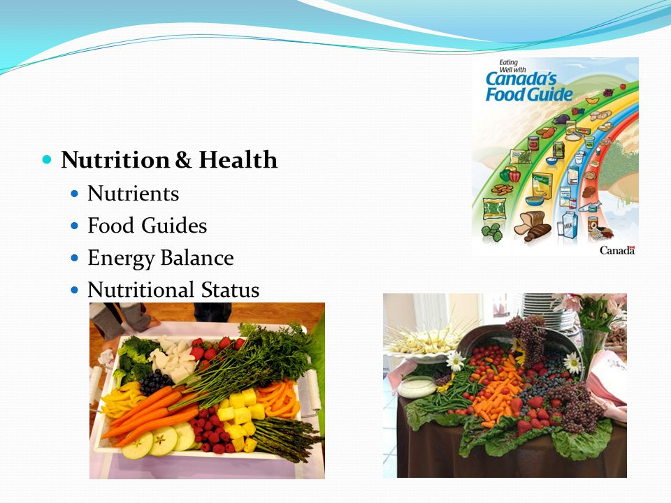Nutrition & Health Nutrients Food Guides Energy Balance