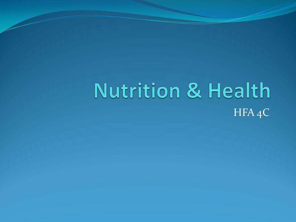 Nutrition & Health HFA 4C