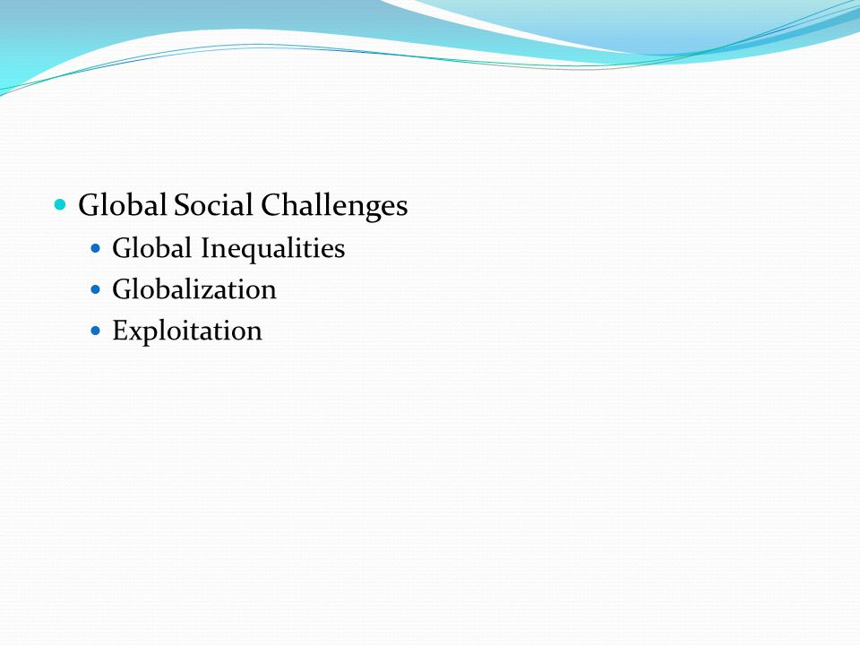 Global Social Challenges