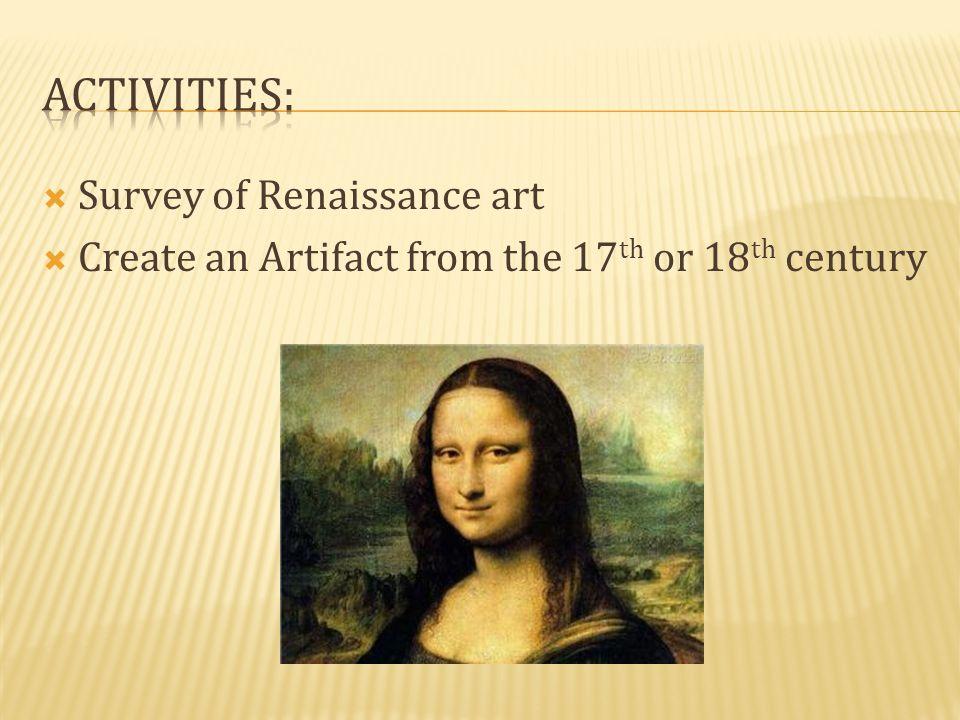 Activities: Survey of Renaissance art