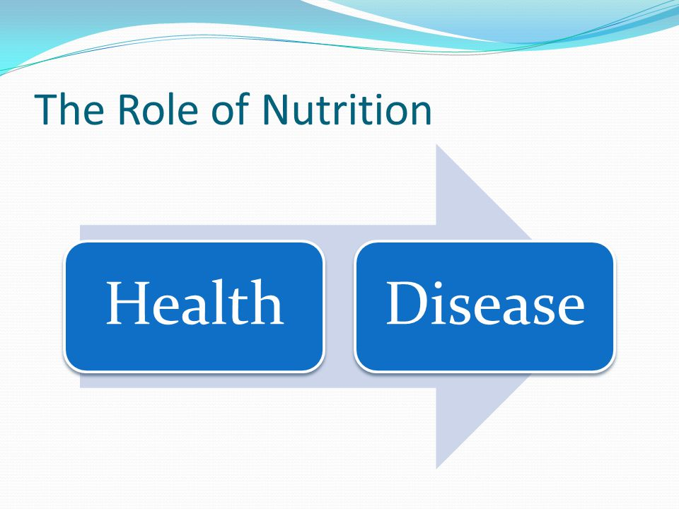 The Role of Nutrition Health Disease