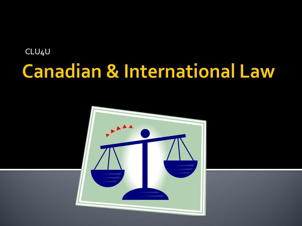 Canadian & International Law