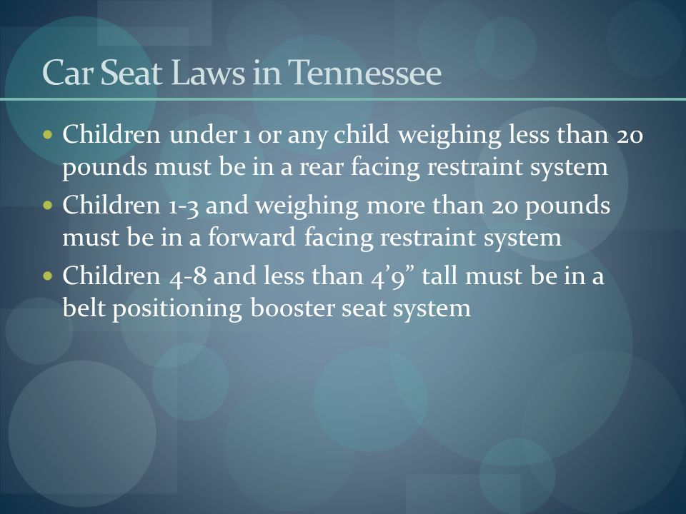 Car Seat Laws in Tennessee