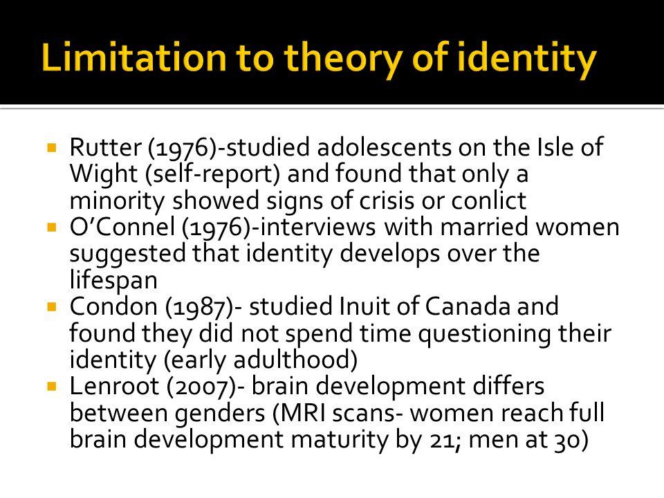 Limitation to theory of identity