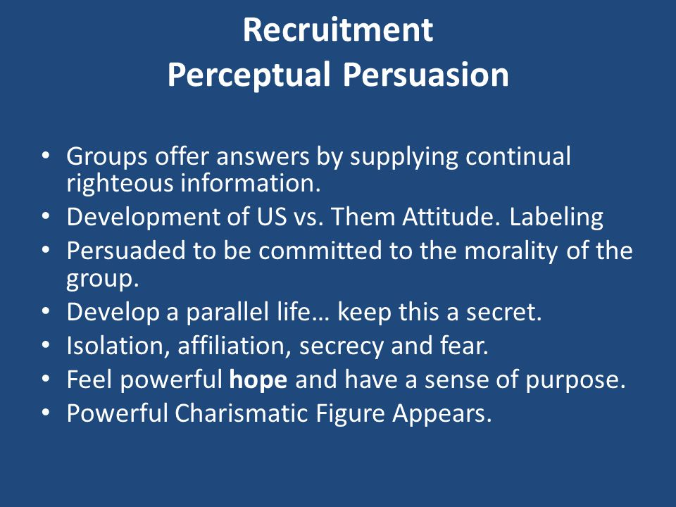 Recruitment Perceptual Persuasion