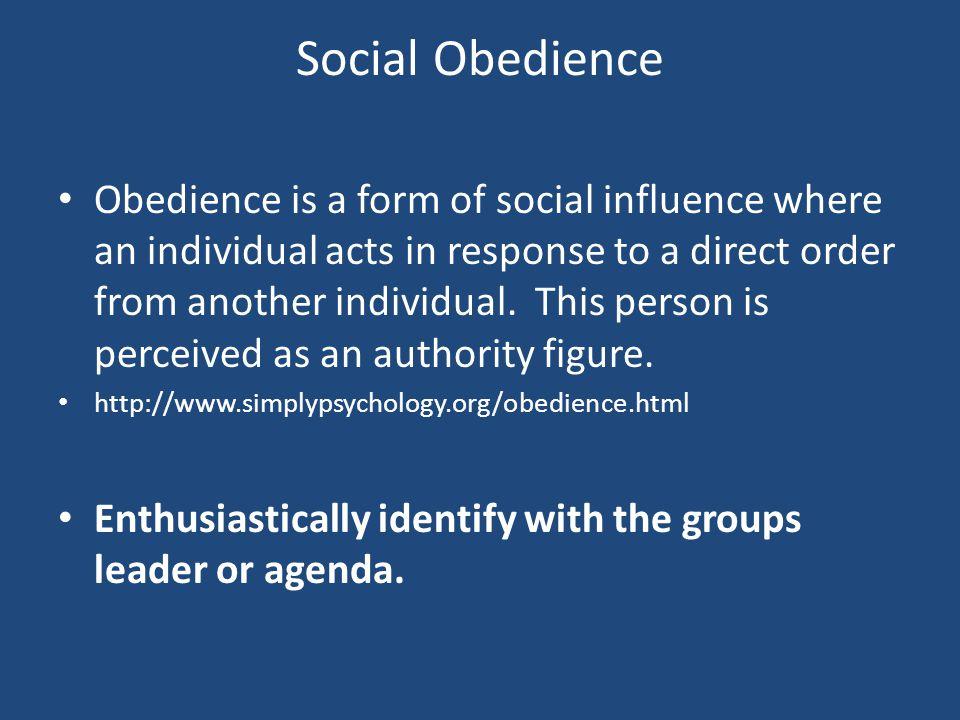 Social Obedience
