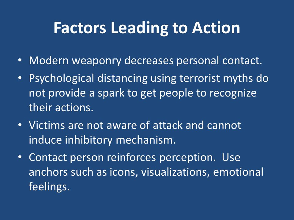 Factors Leading to Action
