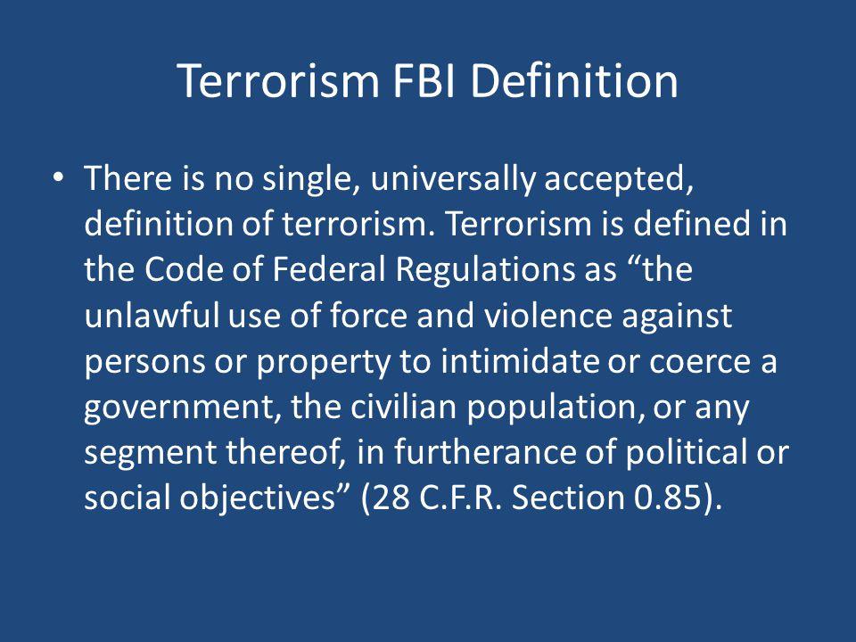 Terrorism FBI Definition
