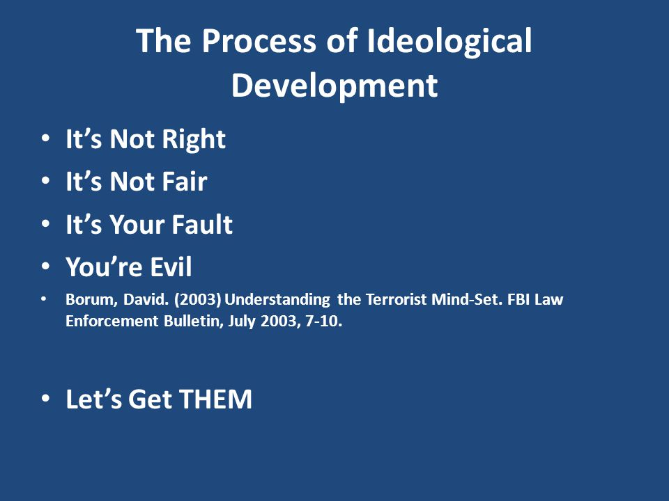 The Process of Ideological Development
