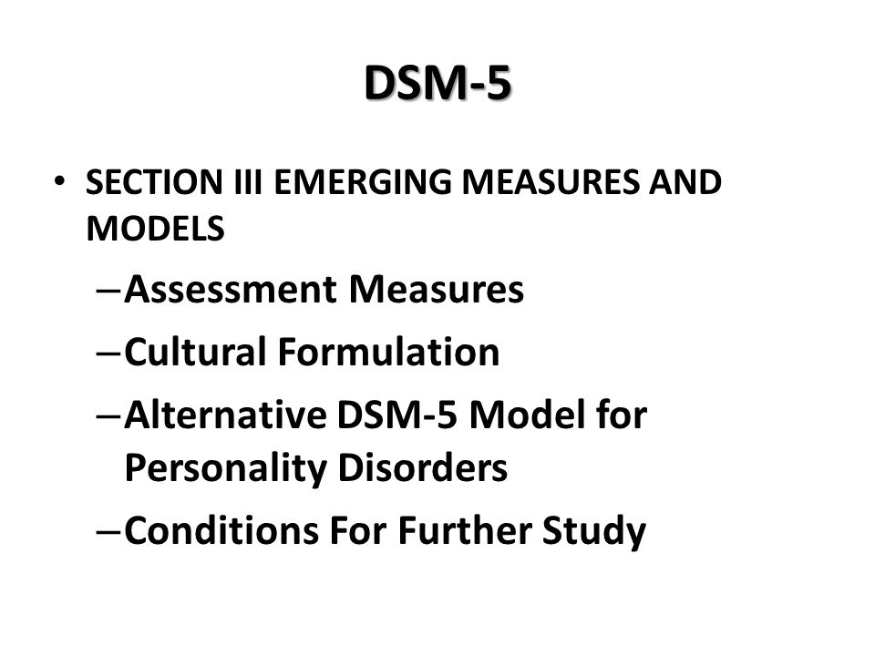 DSM-5 Assessment Measures Cultural Formulation