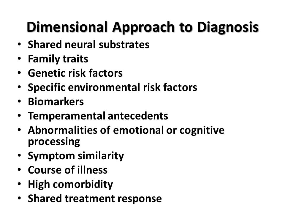 Dimensional Approach to Diagnosis
