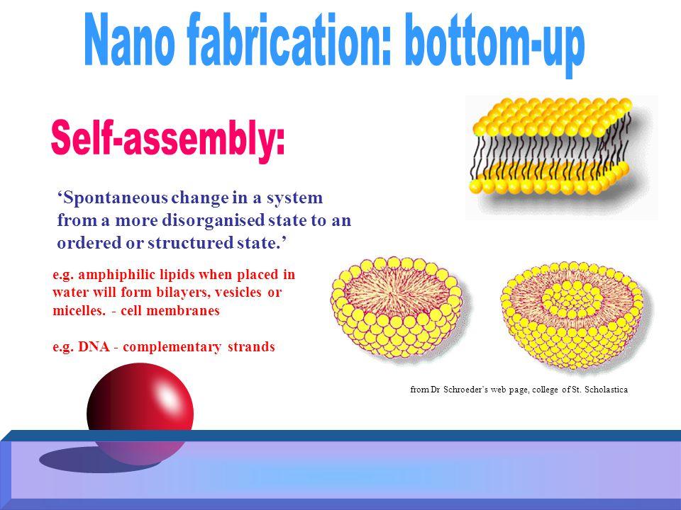 Nano fabrication: bottom-up
