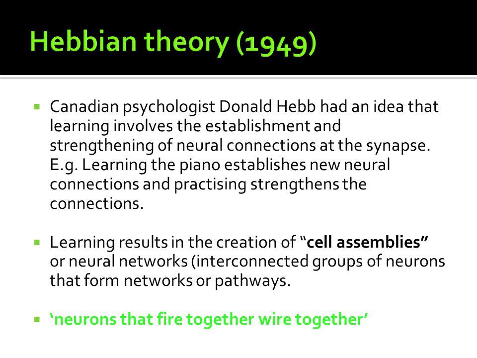 Hebbian theory (1949)