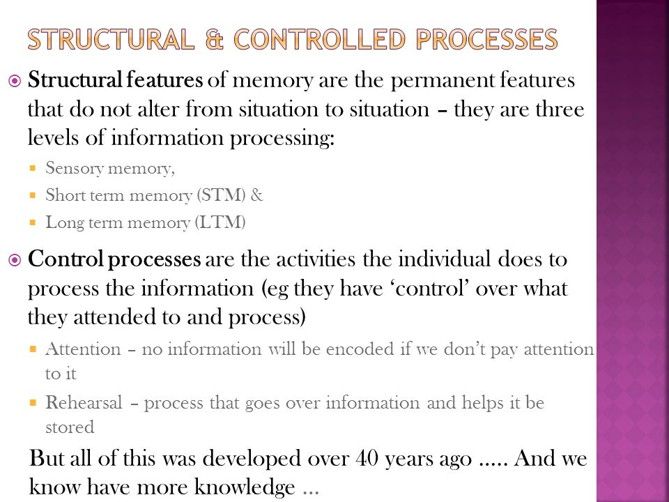 Structural & controlled processes