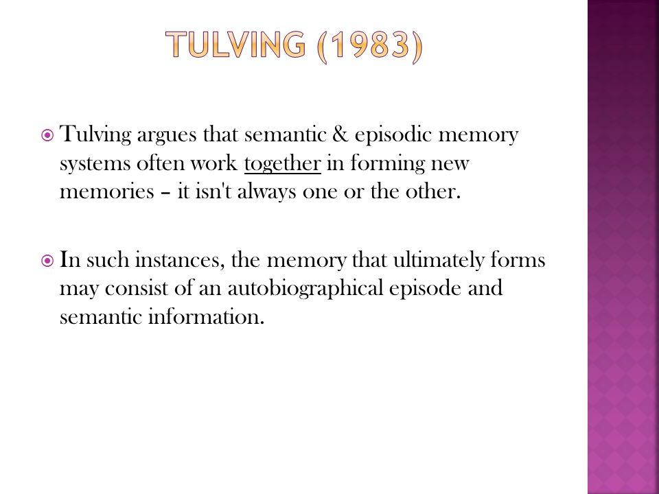 Tulving (1983)