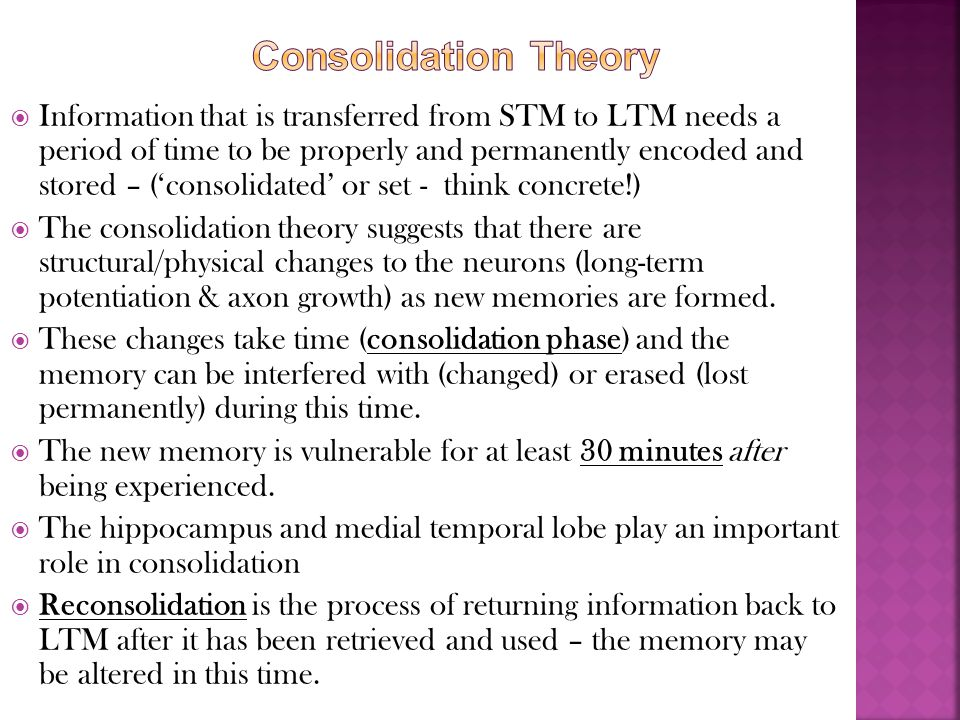 Consolidation Theory