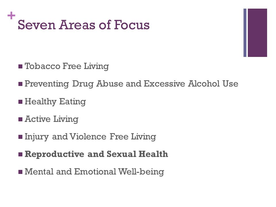 Seven Areas of Focus Tobacco Free Living