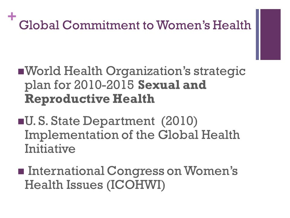 Global Commitment to Women's Health