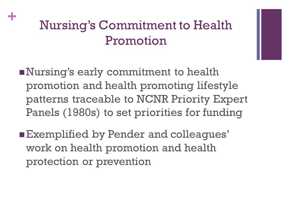 Nursing's Commitment to Health Promotion