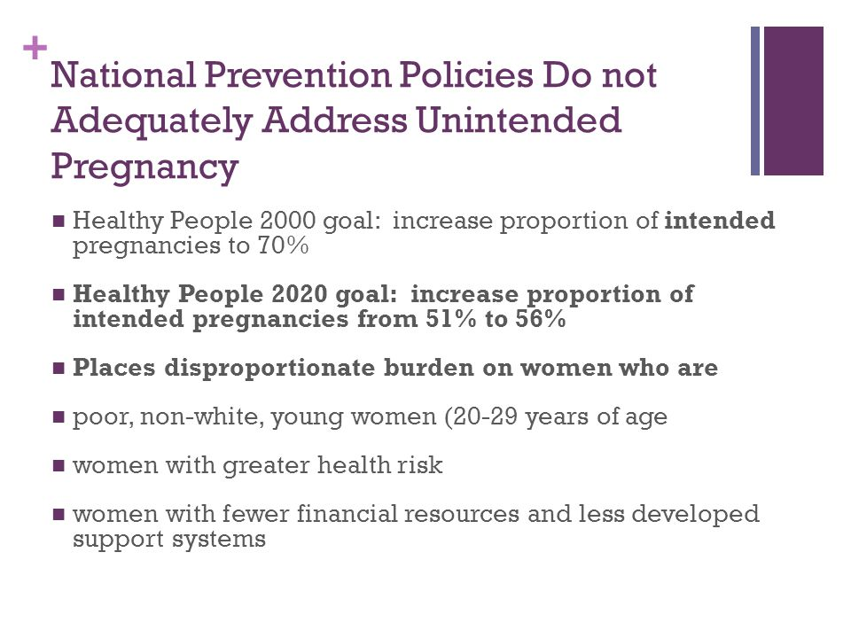 National Prevention Policies Do not Adequately Address Unintended Pregnancy
