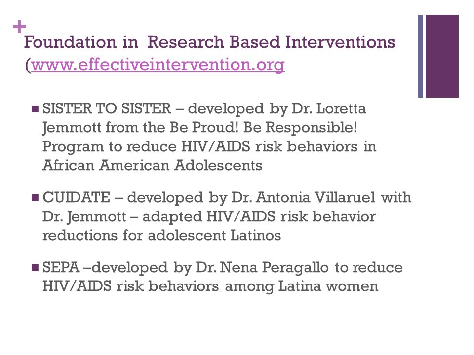 Foundation in Research Based Interventions (www. effectiveintervention