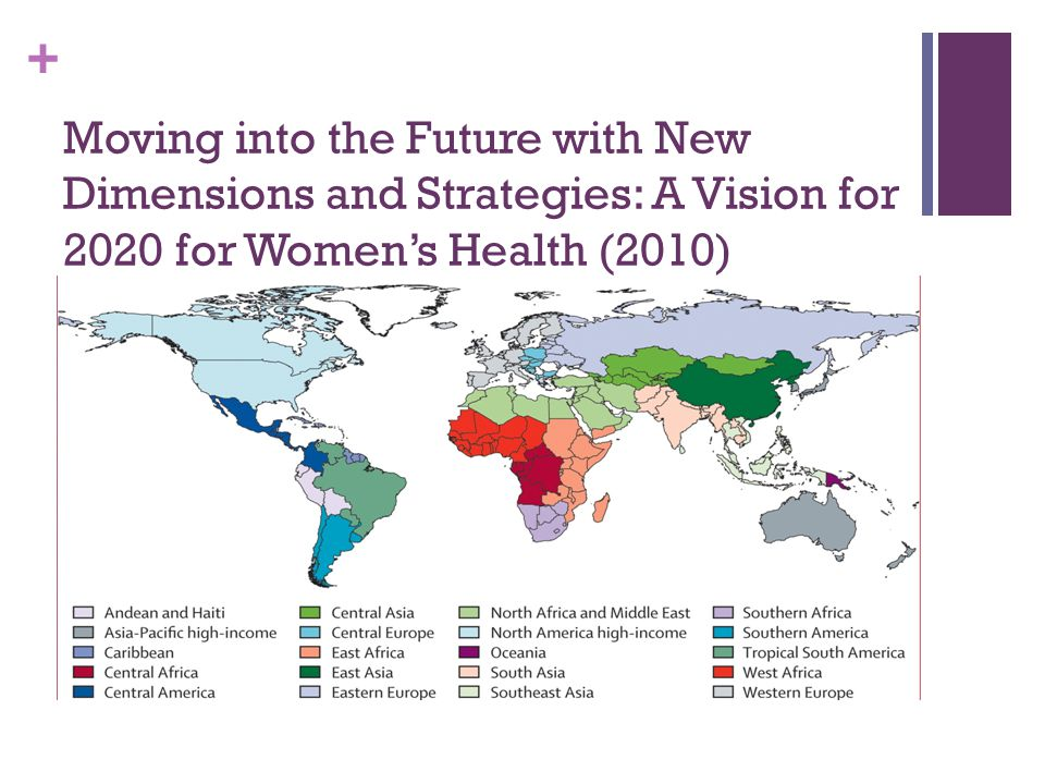 Moving into the Future with New Dimensions and Strategies: A Vision for 2020 for Women's Health (2010)